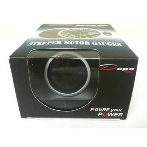 60mm Digital Tachometer Gauge White / Amber