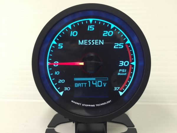 60mm 7 function 7 color Boost Gauge Volt Water and Oil temp