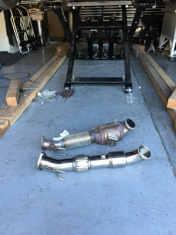 """2012+ Ford Focus ST 3"""" Downpipe Hi Flow Cat 100 cell"""